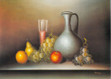 Still Life and Glass Poster by C. Sorel