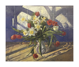 Spring Flowers and Window Reflection Prints by Timothy Easton