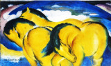 Wild Horses Prints by Franz Marc
