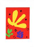 Vegetal Elements Silketrykk av Henri Matisse