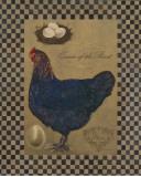 Country Living Hen Kunstdrucke von Luanne D'Amico