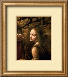 The Virgin of the Rocks (The Virgin with the Infant St. John Adoring the Infant Christ) Framed Giclee Print by Leonardo da Vinci