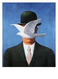 L&#39;Homme au Chapeau Melon, c.1964 Art by Rene Magritte