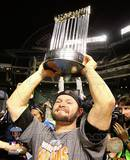 Cody Ross With World Series Trophy Game Five of the 2010 World Series Photo