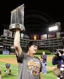 Matt Cain With World Series Trophy Game Five of the 2010 World Series Photo