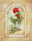 Vase of Flowers and Fresco Background I Posters by C. Beneforti