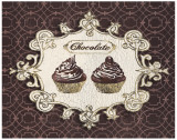 Gilded Cupcakes Posters by Stefania Ferri