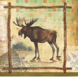 Moose Nature Print by Walter Robertson
