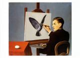 La Clairvoyance Plakater af Rene Magritte