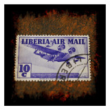 Air Mail Stamp Print by Jean-François Dupuis