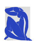 Blue Nude II Serigraph by Henri Matisse
