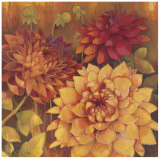 Autumn Dahlias II Posters by Vera Hills