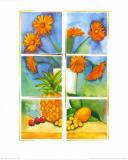 Still Life in Orange Prints by P. Sonja