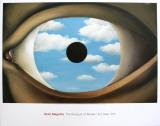 The False Mirror Poster par Rene Magritte