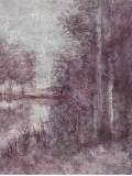 Shimmering Plum Landscape II Prints by Jill Schultz McGannon