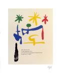"""Illustrated Poems-""""Parler Seul"""" Plakater av Joan Miró"""