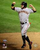 Cody Ross Celebrates Edgar Renteria's 3 Run Home Run Game Five of the 2010 World Series Photo