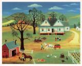 Chores on the Farm Kunstdrucke von Konstantine Rodko