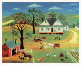 Chores on the Farm Print by Konstantine Rodko