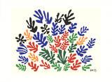 Bouquet di foglie Serigrafia di Henri Matisse