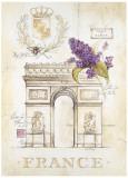 Arc de Triomphe Lilacs Affiche par Angela Staehling