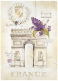 Arc de Triomphe Lilacs Print by Angela Staehling