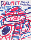 Untitled (lg) Samlertryk af Jean Dubuffet