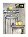 Fruits and Stones IV Print by Brigitta Kistlers