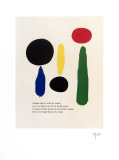 Illustrated Poems-Parler Seul Collectable Print by Joan Mir&#243;