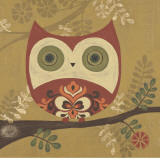 Sapna Sapna - Pattern Owl Plakát