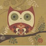Pattern Owl Poster van Sapna Sapna