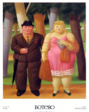 Una Coppia, 1999 Prints by Fernando Botero