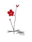 Rote Blume Poster von Aki Kuroda