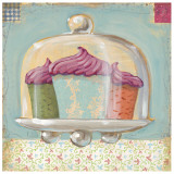 Three Cupcakes Prints by K. Tobin