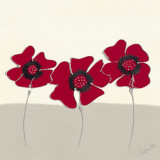 Red Flowers II Prints by Lindsay Hill