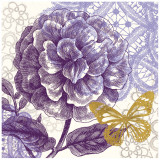 Lace Butterfly I Prints by Evangeline Taylor