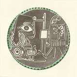 Jacqueline au Chevalet Kunstdrucke von Pablo Picasso