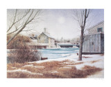White Water in a small town Collectable Print by Dwight Baird