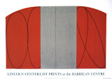Zone rouge/grise Sérigraphie par Robert Mangold