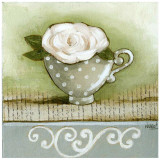 Tasse À Point et Rose Print by Véronique Didier-Laurent