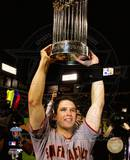 Buster Posey With World Series Trophy Game Five of the 2010 World Series Photo