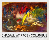 Enlevement de Chloe (Abduction of Chloe) Collectable Print by Marc Chagall
