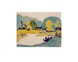 Parklandschaft in Dresden Posters by Ernst Ludwig Kirchner