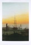 Der Greiwalden Hafen Print by Caspar David Friedrich
