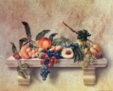 Still Life with Peach Prints by C. Sorel