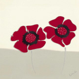 Red Flowers I Print by Lindsay Hill