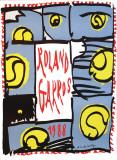 Roland Garros, 1988 Samlertryk af Pierre Alechinsky