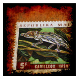 Cameleon Stamp Posters af Jean-François Dupuis