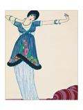 Woman Stretching Giclee Print by Georges Barbier