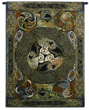 Ravens Panel Wall Tapestry by Jan Delyth